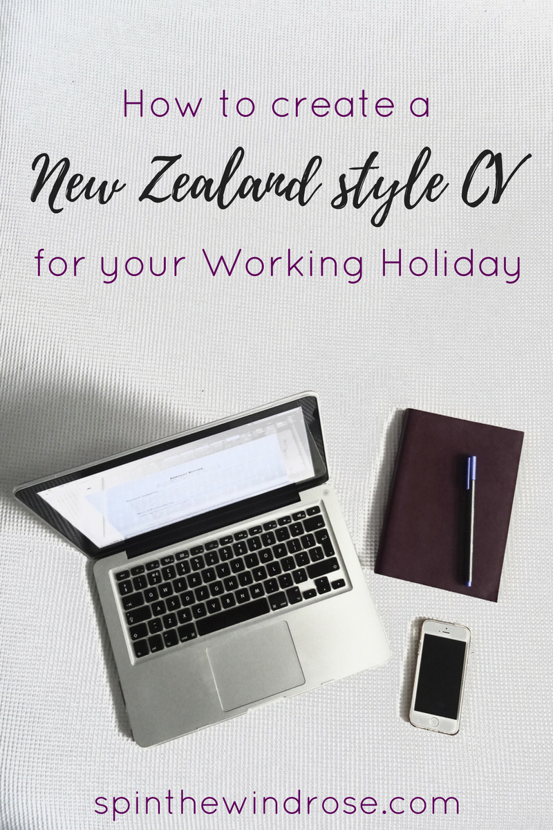 how to write a new zealand style CV - spinthewindrose.com