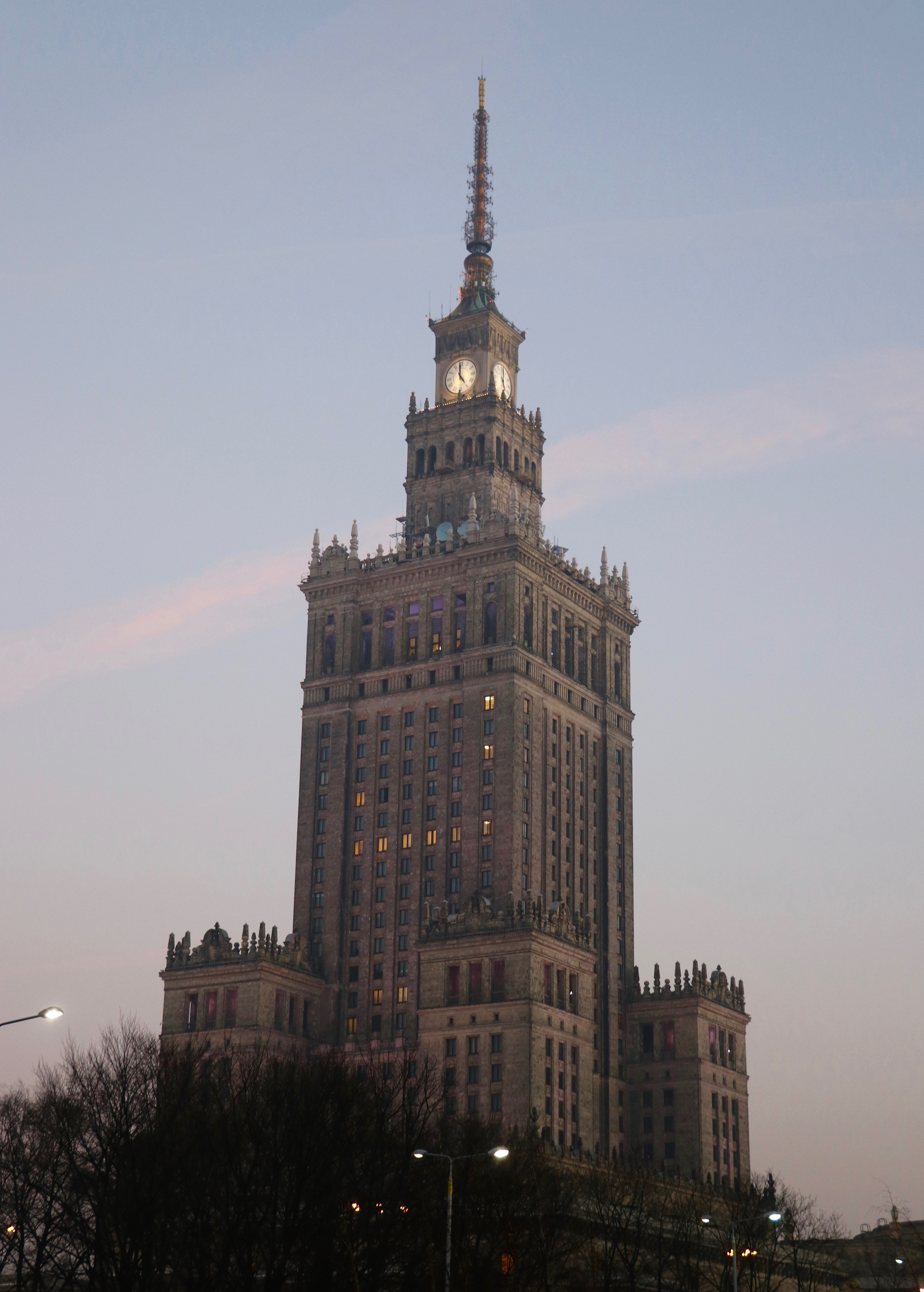 Palace of Culture and Science, Warsaw, Poland - spinthewindrose.com